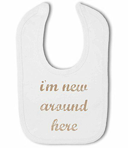 Unisex I/'m New Around Here cute Newborn Neutral Baby Bib by BWW Print Ltd