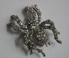 Grandes cristales de color Plata Araña Broche claro/Insecto Disfraz Pin