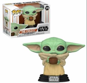 Baby Yoda The Child Star Wars Mandalorian Funko Pop with Cup Vinyl Figure