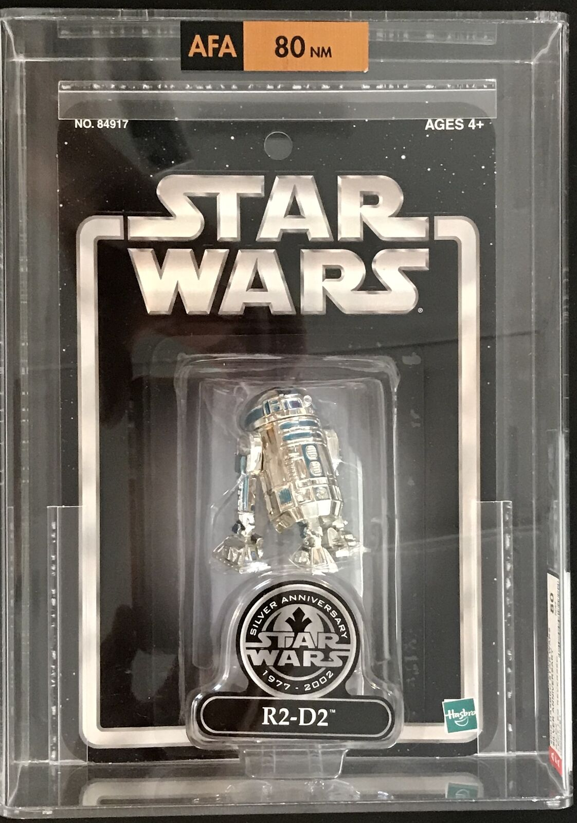 RARE 2002 Star Wars R2-D2 Action Figure ERROR LEFT LEG REVERSED  (AFA 80)