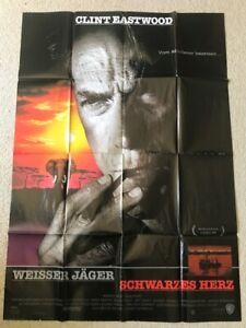 Clint-Eastwood-Weisser-Jaeger-Schwarzes-Herz-Original-Filmplakat-A0