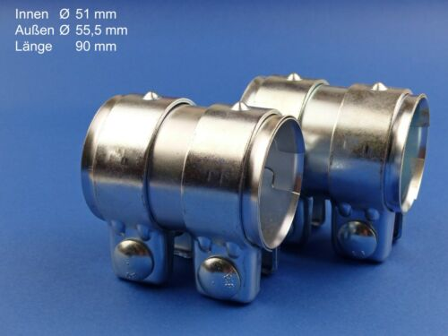 Rohrverbinder 51x90mm 2 Stück