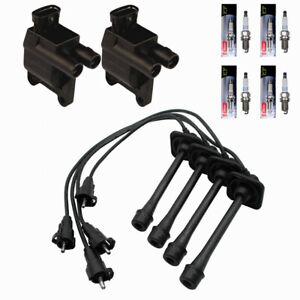 Denso 2 Ignition Coils Wire Set /& 4 Platinum TT Spark Plugs Kit For Kia 2.0L L4