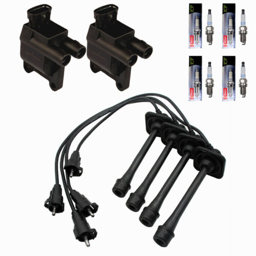 Ignition Coil Wire Set Kit DENSO Spark Plugs For Toyota Camry Rav4 Solara