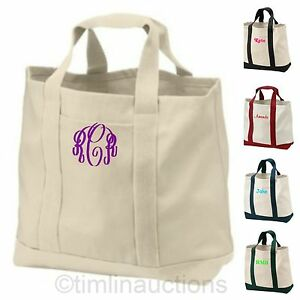 reusable canvas shopping tote bag grocery book bag personalized