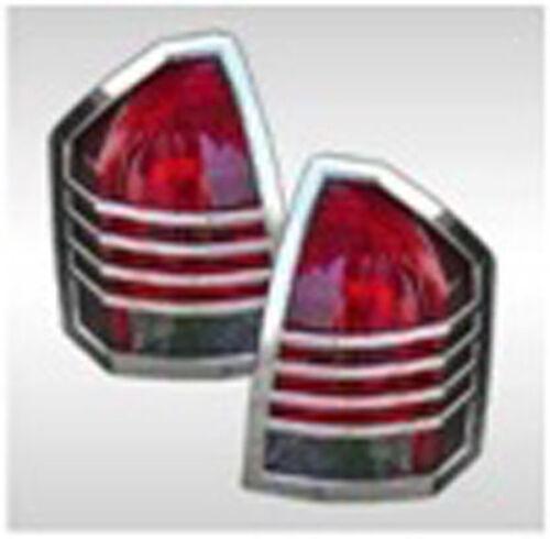 FOR 05 06 07 Chrysler 300//300C Chrome Taillight Tail Light Trim Bezel Lamp Cover