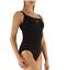 schwarz 3666 Speedo Damen Badeanzug Einteiler D-Cup