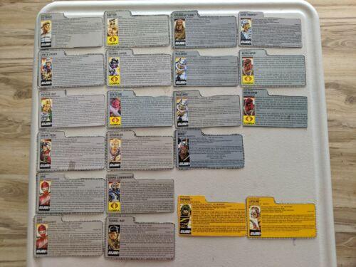 GI Joe 1987 1988 File Cards Cobra Commander Jinx Mail Tiger Force Super Trooper