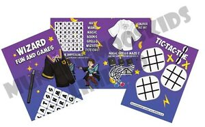 Pack of 12 - Magic Wizard Fun and Games Activity Sheets Party Bag Books Fillers