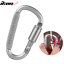 Camping-Outdoor-Aluminum-Alloy-D-ring-Screw-Lock-Buckle-Carabiner-1pc thumbnail 1