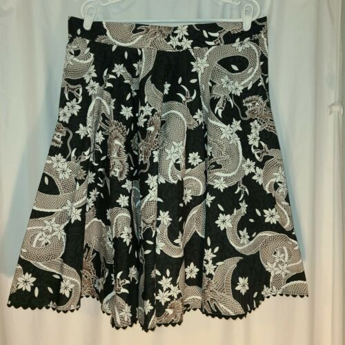 Pinup Style Asian Dragon All Over Print Skirt Size