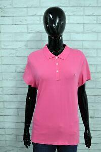 TOMMY HILFIGER Donna Maglia Polo Maglietta Taglia XL Slim Shirt Woman Camicia