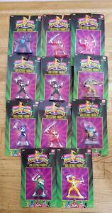 "1993 Bandai Mighty Morphin Power Rangers 3"" Collectible Figures Set of 11 #2300"