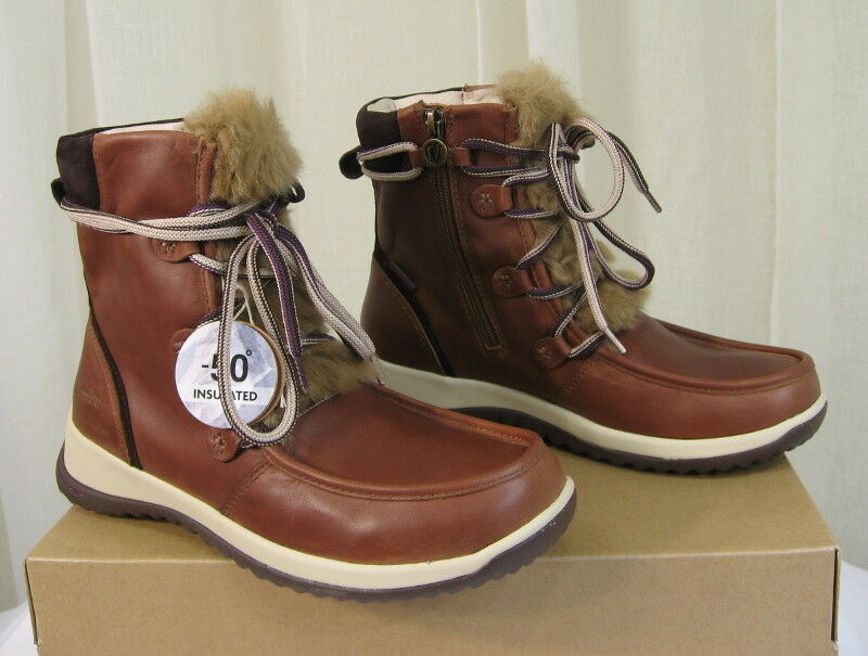 NEW JAMBU Braun Denali Lace-Up/Zip Waterproof Antique Braun JAMBU Leder/Faux-Fur Boot 8.5 28e212