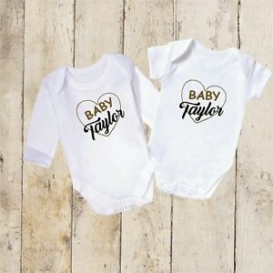 Embroidered Personalised Baby Vest Baby Shower Gift Personalised Baby Bodysuit Personalised Baby Vest Personalised New Baby Gift