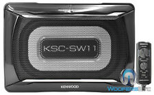 KENWOOD KSC-SW11 COMPACT POWERED ENCLOSED SUBWOOFER SPEAKER AMPLIFIER BASS BOX