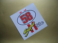 MARCO SIMONCELLI 58 SUPER SIC sticker/decal x2