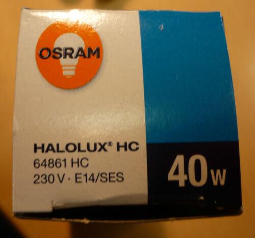 OSRAM Halolux HC //RADIUM Ralogen P Kerzenlampe Pyramide E14 40W 64861 Halogen