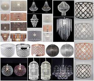 Aimable Lustre Style Plafonnier Abat-jour Gouttelettes Pendentif Acrylique Cristal Perle Luxe-afficher Le Titre D'origine La DernièRe Mode