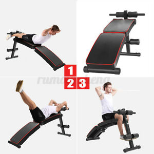 folding sit up abdominal bench gym ab exercise fitness