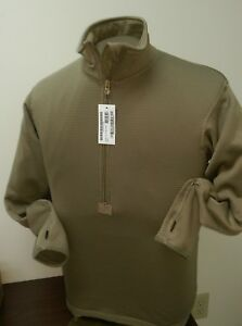 Mens-Thermal-Shirt-ECWCS-Half-Zip-Gen-3-Level-2-Military-Tan-499-XS-S-M-L-XL-XXL
