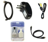 Usb Cable+ Av Video + Hdmi + Charger For Olympus Sp-620 Sp-720 Sp-820 Sz-16 Tg-2