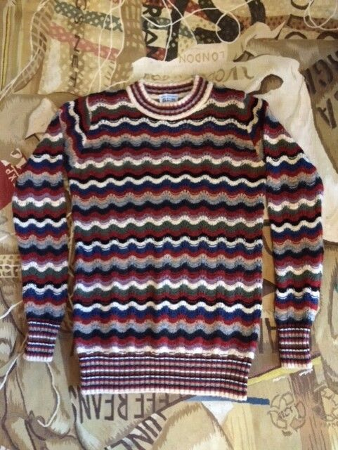 NEW VIVIENNE WESTWOOD MAN MOHAIR MIXED R/N JUMPER SIZE S (OVERSIZED FIT)