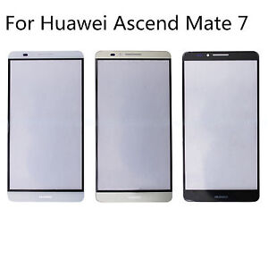 12b3bca3121 Touch Screen Outer Front Glass Lens For Huawei Ascend Mate 7 Black ...