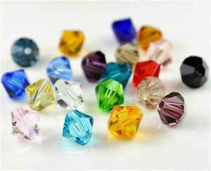 Wholesale-Jewelry-Finding-100-1000pcs-4mm-crystal-Bicone-Beads-U-Pick-color-HOT