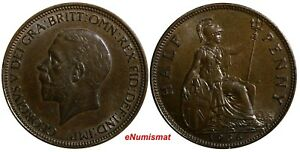 Great-Britain-George-V-1910-1936-Bronze-1936-1-2-Penny-LAST-YEAR-TYPE-KM-837