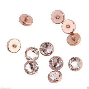 Titanium Rose Gold Dermal Anchor Top Head Surface Piercing Jewelry