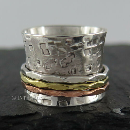 925 Silber Ring - Silberring Bandring Damenring Herrenring Fingerring  Ino48