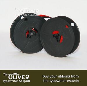 2 x OLIVETTI LETTERA DL *BLACK//RED* TOP QUALITY *10M* TYPEWRITER RIBBONS