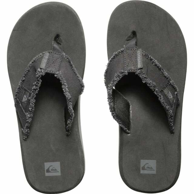 Quiksilver Monkey Abyss Cork Flip Flops Brown Men/'s Sandals with Cork Footbed