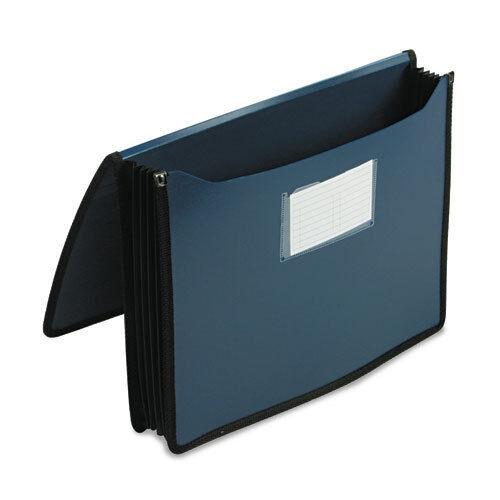 Navy Blue 5 1//4 Exp Smead 71503 Poly Premium Wallets Letter