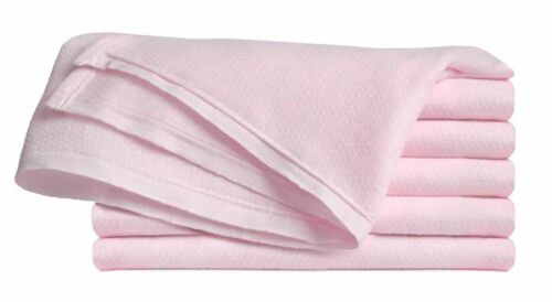 Birdseye Flatfold Cloth Diapers, Baby Pink