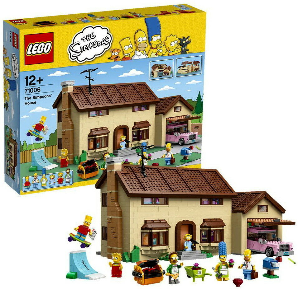 LEGO 71006 in esclusiva THE SIMPSONS HOUSE SIMPSONS casa 2523 parti 6 PERSONAGGI NUOVO