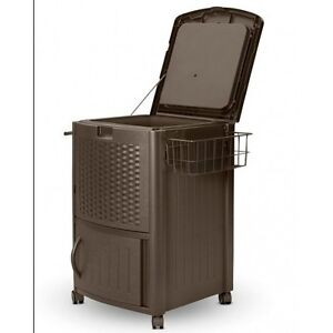 Image Is Loading Beverage Cooler Cart Party Portable Deck Patio Ice