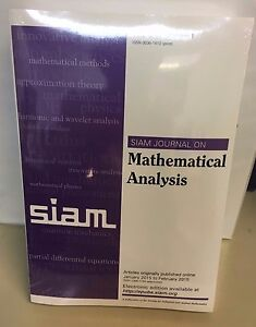 Details about Siam Journal on Mathematical Analysis Volume 47 Number 1 BOOK  NEW