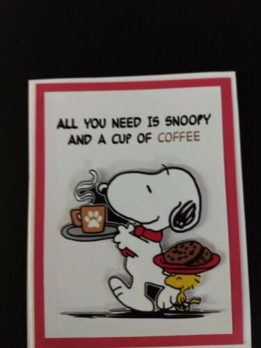 SNOOPY LOVE COFFEE CARD A2 SIZE