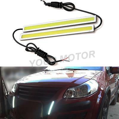2 X Ultra Slim Strip COB LED Daytime Running Light Car Vehicles DRL Lamp 500lms