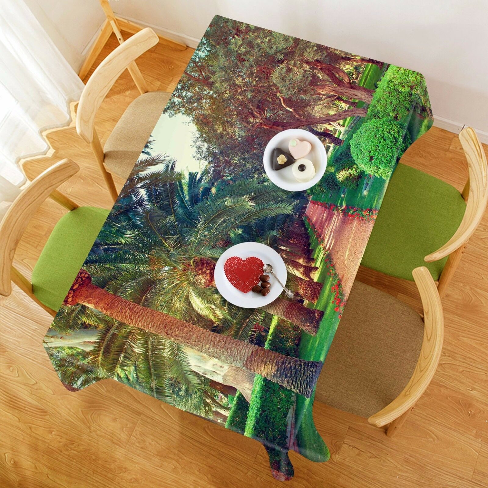 3D Path Scenery 2 Tablecloth Table Cover Cloth Birthday Party Event AJ WALLPAPER