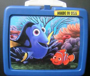 Disney Finding Dory Thermos Hard Lunch Box School Travel Blue Made In Usa 41205694533 Ebay