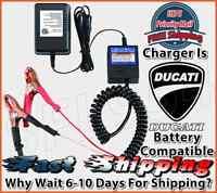 Ducati Motorcycle 12v Battery Charger Smart Maintainer Tender Float 12 Volt