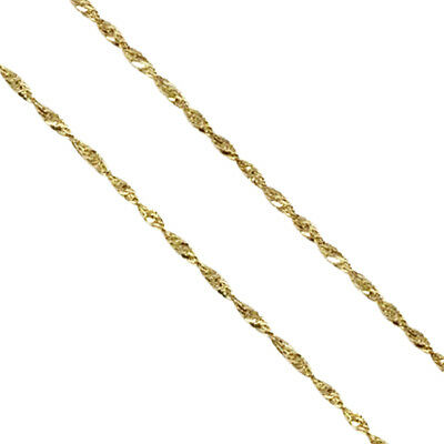 Real 10k Yellow Gold Necklace Gold Rope Chain 2.00 mm 20 Inch Genuine Gold