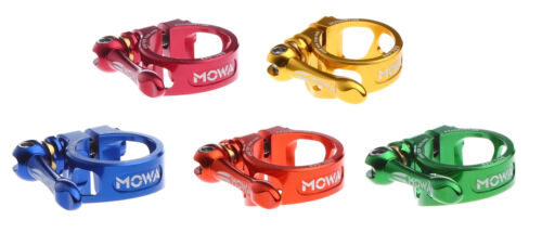 MOWA BSC Road Mountain Cyclocross Bicycle Bike Seatpost QR Clamp 31.8mm Red