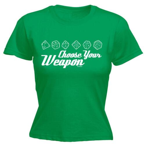 Choisissez Votre Arme Dice T-shirt femme tee-shirt Anniversaire Cadeau Mode Casino