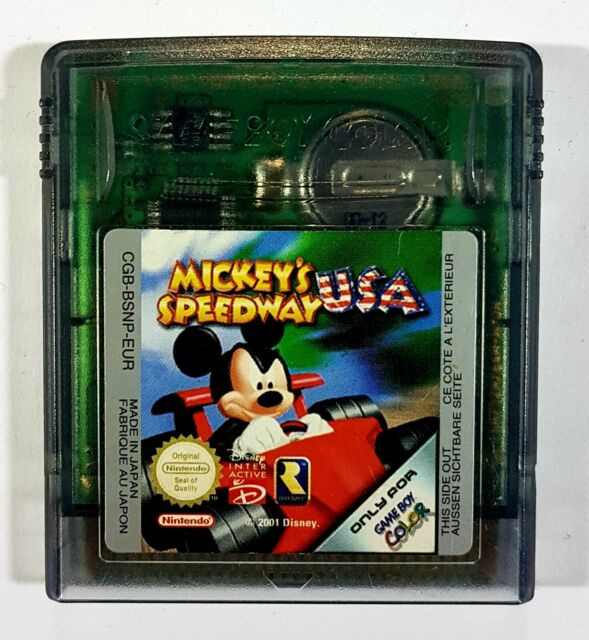 Game Boy Color MICKEY'S Speedway USA Rare 2001 Allemagne Pal