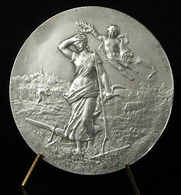 2019 úLtimo DiseñO Médaille Offert Par Mr Le Comte L De Blois 1950 Allégorie De L'agriculture Medal