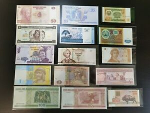 Set C : Mix World Banknote, 15 pcs (UNC)